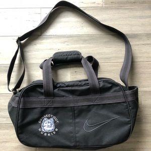Vintage Nike Uconn Huskies Gym Bag Side Bag